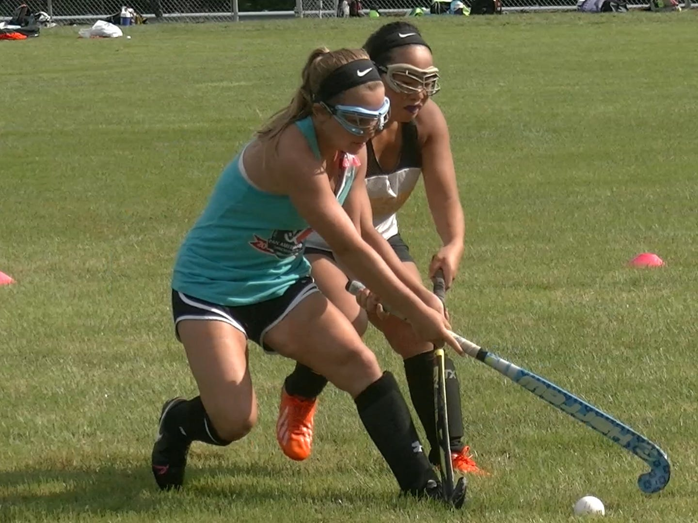 Members of Red Lion's field hockey team conduct drills Monday, Aug. 13, 2018.