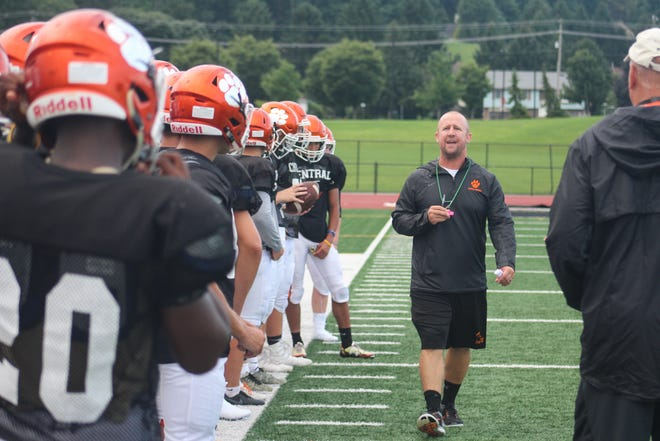 Central York High School football begins practice on August 13, 2018.
