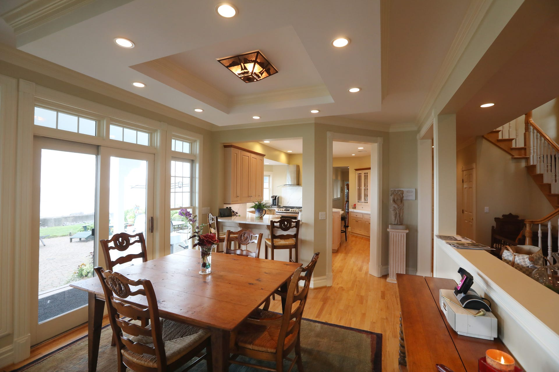 A More Casual Dining Area Alongside The Kitchen On First Floor House Features