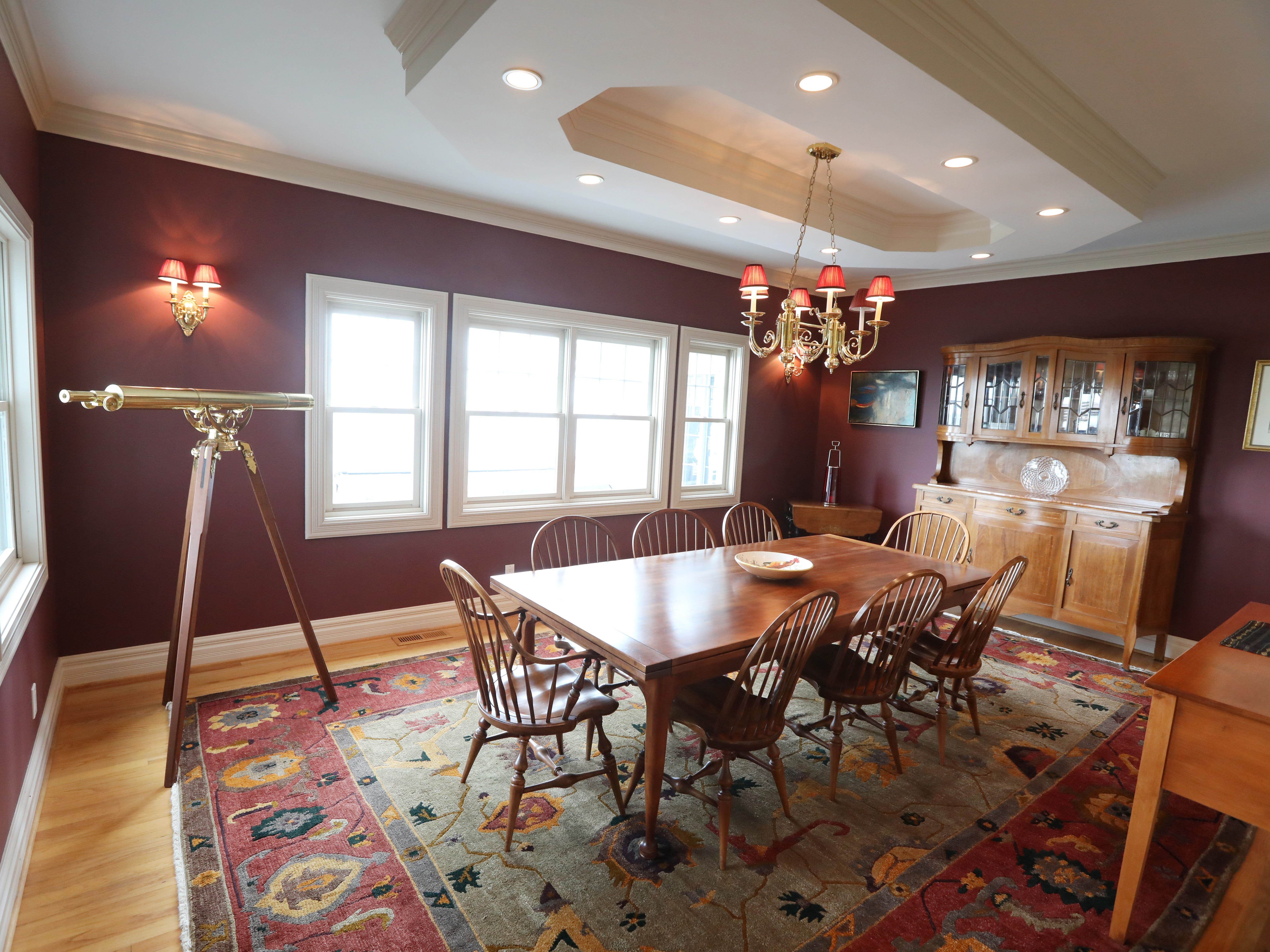 The formal dining room on the first floor.