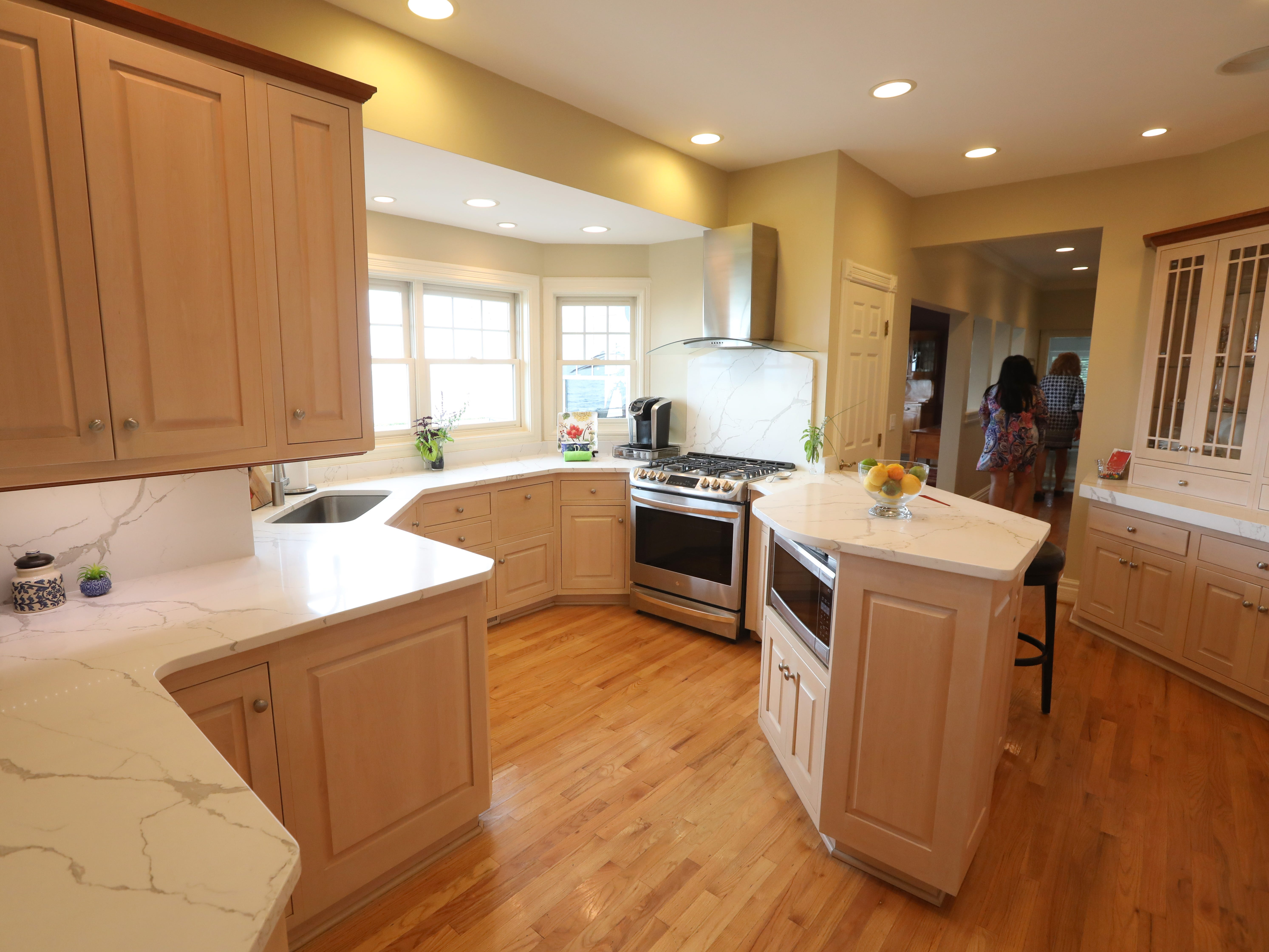 The kitchen on the first floor at 1060 Rock Beach Road.