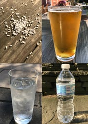 Salt, beer and water