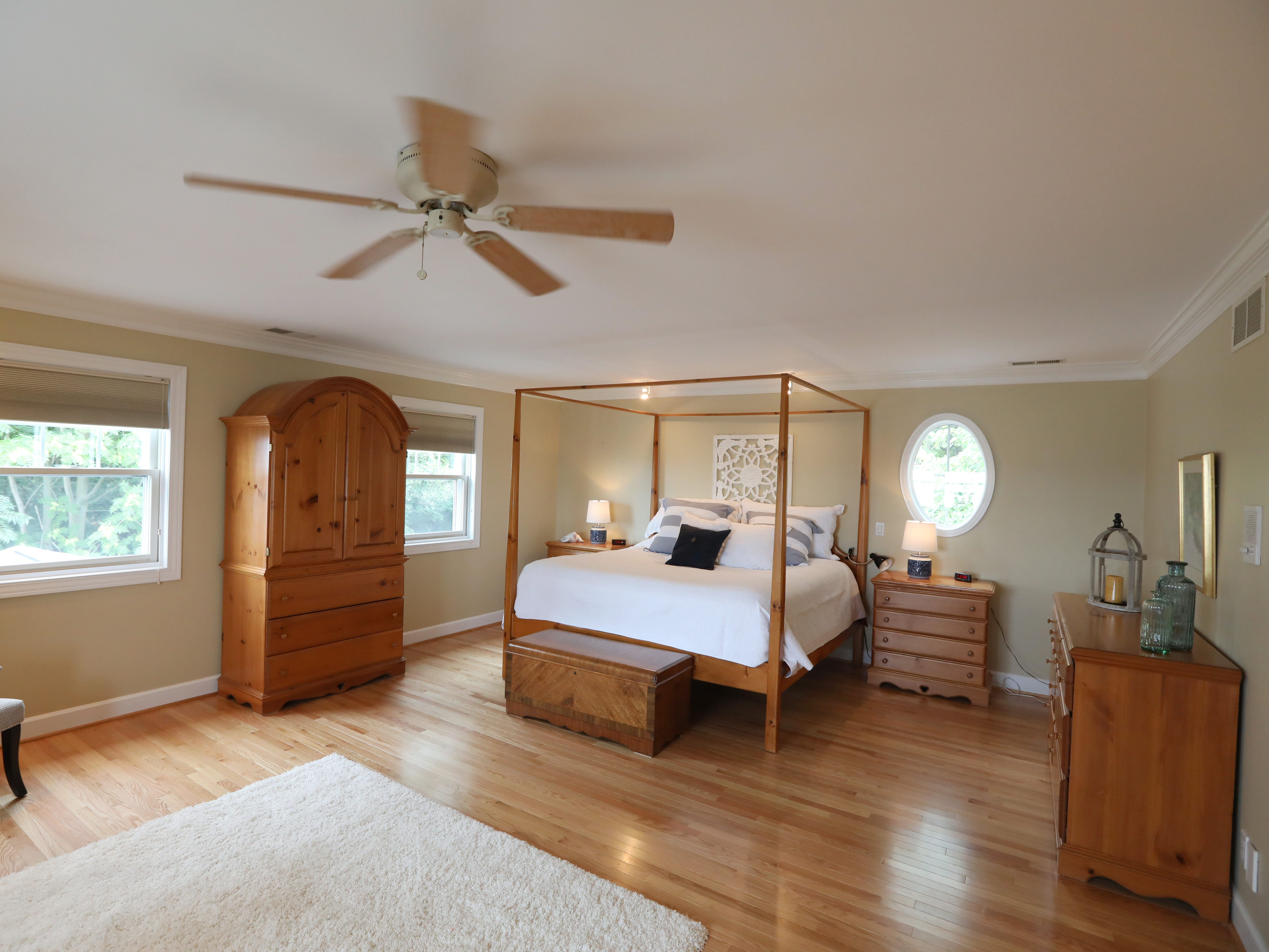 The master bedroom on the second floor.