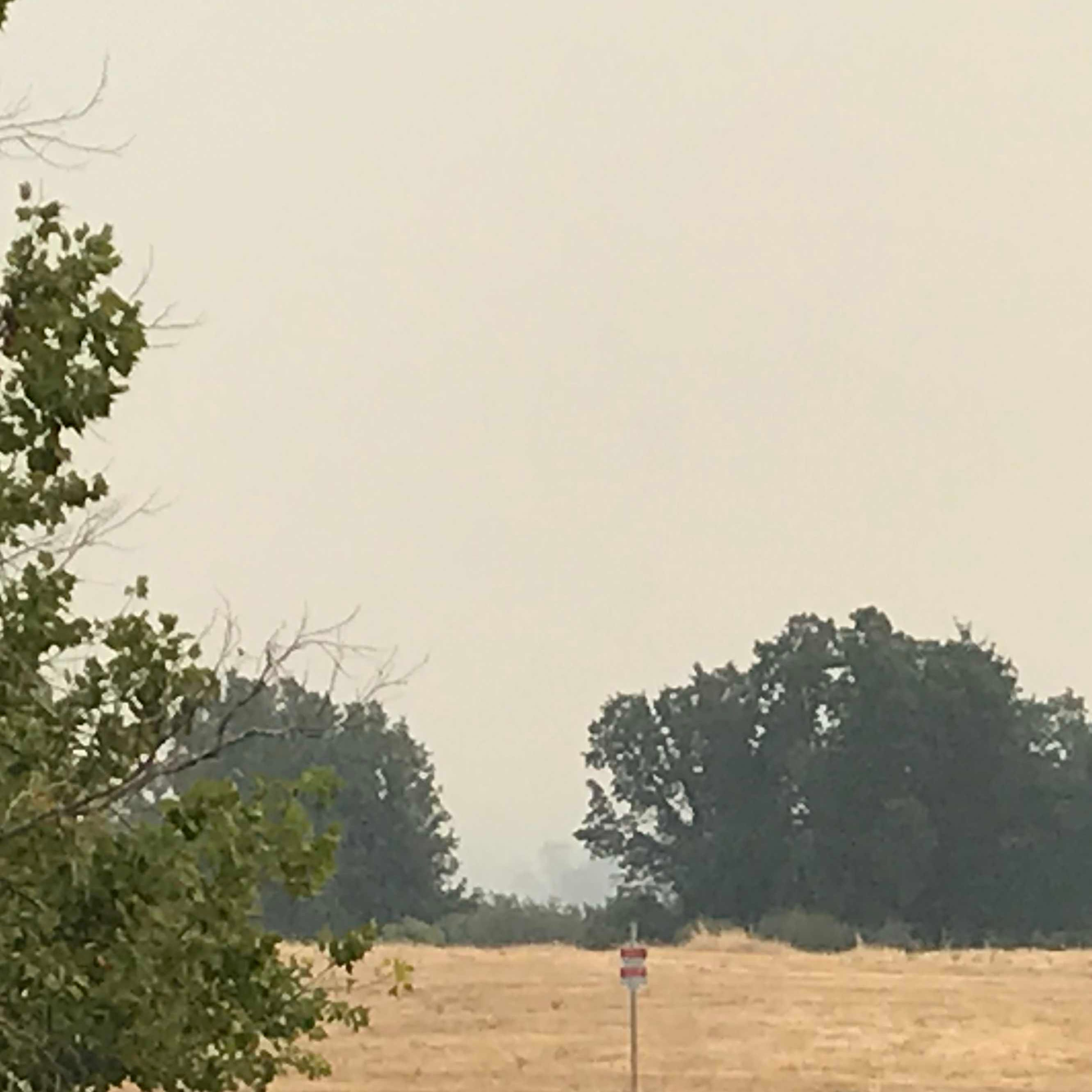 That smoke from the Carr Fire and other California fires is making it difficult to breathe