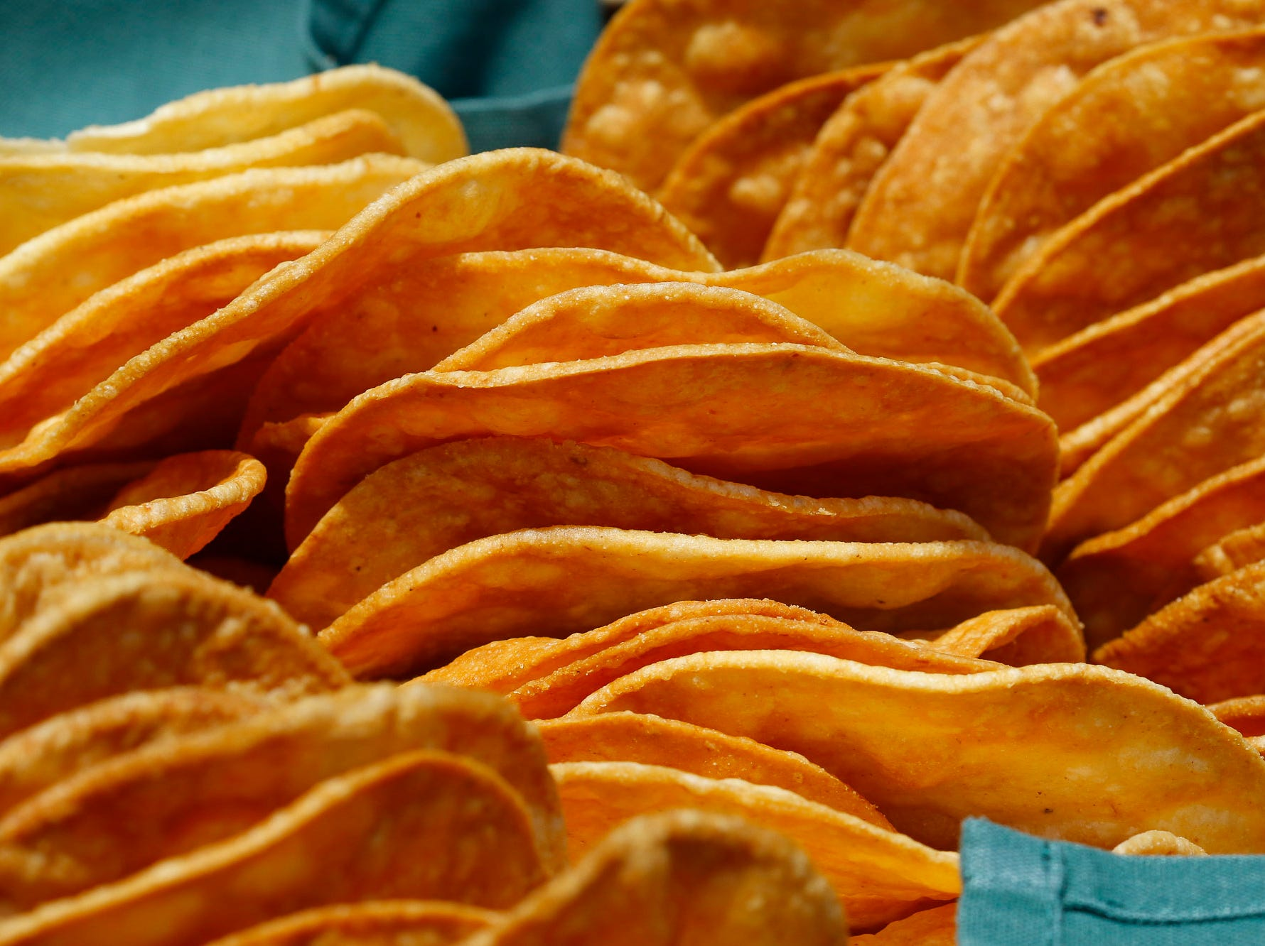 Taco shells are pictured during the 2018 Salinas Valley Food and Wine Festival which takes place on Main Street in Old Town Salinas on Saturday, August 11, 2018.