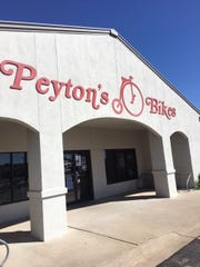 Storefront of Peyton's Bikes, located on 4712 North Midkiff Rd.