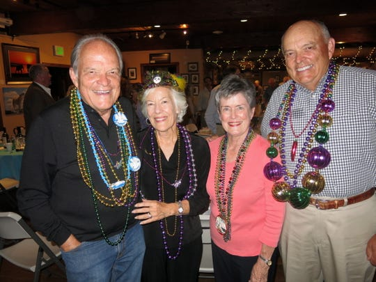 "Bob Allen Street and his wife, former Dixie resident Pam Sloan Street, and Betty and David Street at ""The Old Gallery Gala,"" Allenspark, Colo."