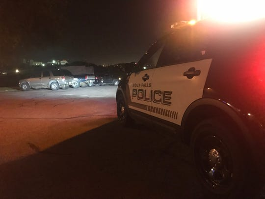 Police investigate a shooting at Falls Park on Sunday night