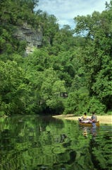 The Buffalo National River in Arkansas draws thousands of paddlers each year.