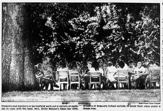Students returning to school at Sequiota in 1983.