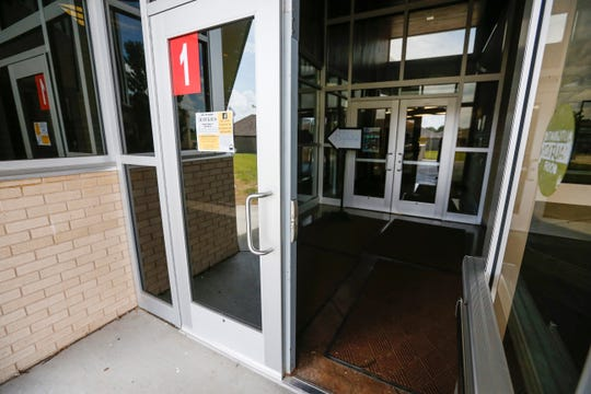 When visitors walk through the door at Jeffries Elementary School, they are in a secure vestibule next to the main office.
