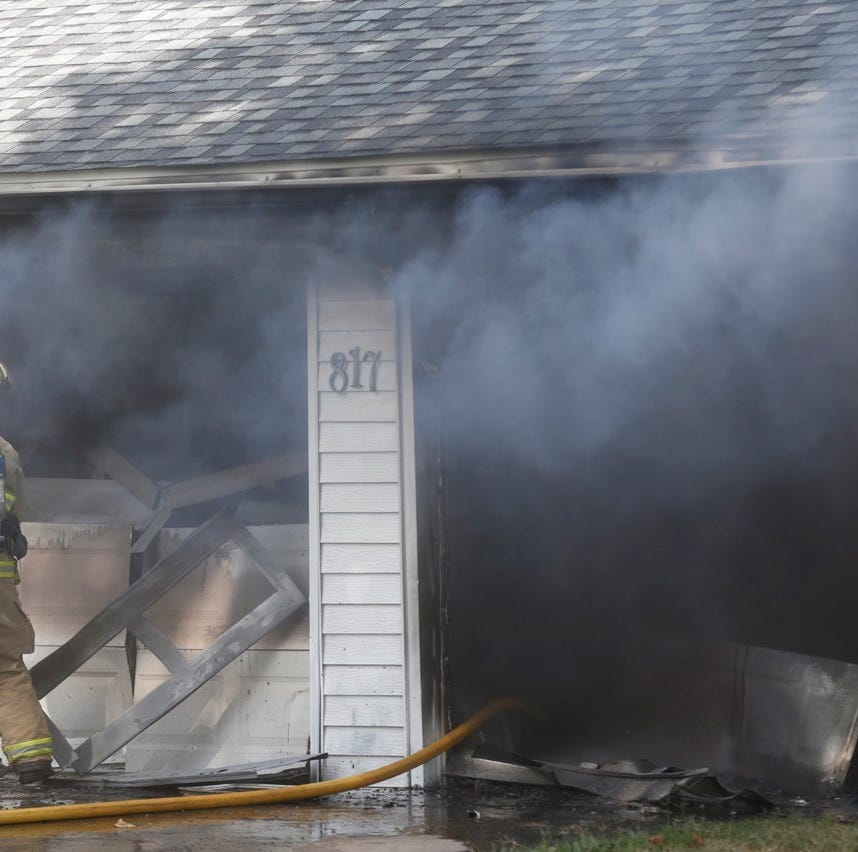 Crews responded to a house fire Monday in the 800 block of North Lone Pine Avenue.