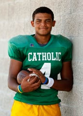 Tyson Riley see here at Catholic High in Springfield on August 10, 2018.