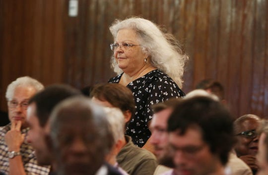 "Susan Bro, mother to Heather Heyer who was killed by a car attack, was among the list of speakers to address the crowd at the Albemarle-Charlottesville NAACP program called ""A Time for Reflections and Healing"" at Zion Union Baptist Church in Charlottesville on Sunday, Aug. 12, 2018, the one year anniversary of the Unite the Right rally that happended in the parks in downtown Charlottesville."