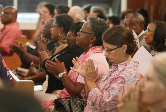 "The Albemarle-Charlottesville NAACP held a program called ""A Time for Reflections and Healing"" at Zion Union Baptist Church in Charlottesville on Sunday, Aug. 12, 2018 where speakers such as UVA's president James Ryan, the mother of Heather Heyer, Susan Bro, and VA state senator of the 25th District, Creigh Deeds, among others were invited to address the crowd."