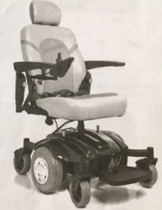 Owner's manual photo of the wheelchair stolen Sunday morning.