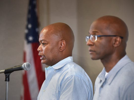 St. Cloud Superintendent Willie Jett and Apollo High School Principal Al Johnson announce Monday, Aug. 13, that Apollo High School students are expected to start school on time this fall, but on a temporary schedule of alternate days. A fire damaged the school on July 11 while crews were replacing heating and cooling systems in the B wing.