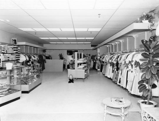 Interior of Lillian's Shop on Adams Street photographed in 1961 by Harvey Slade.
