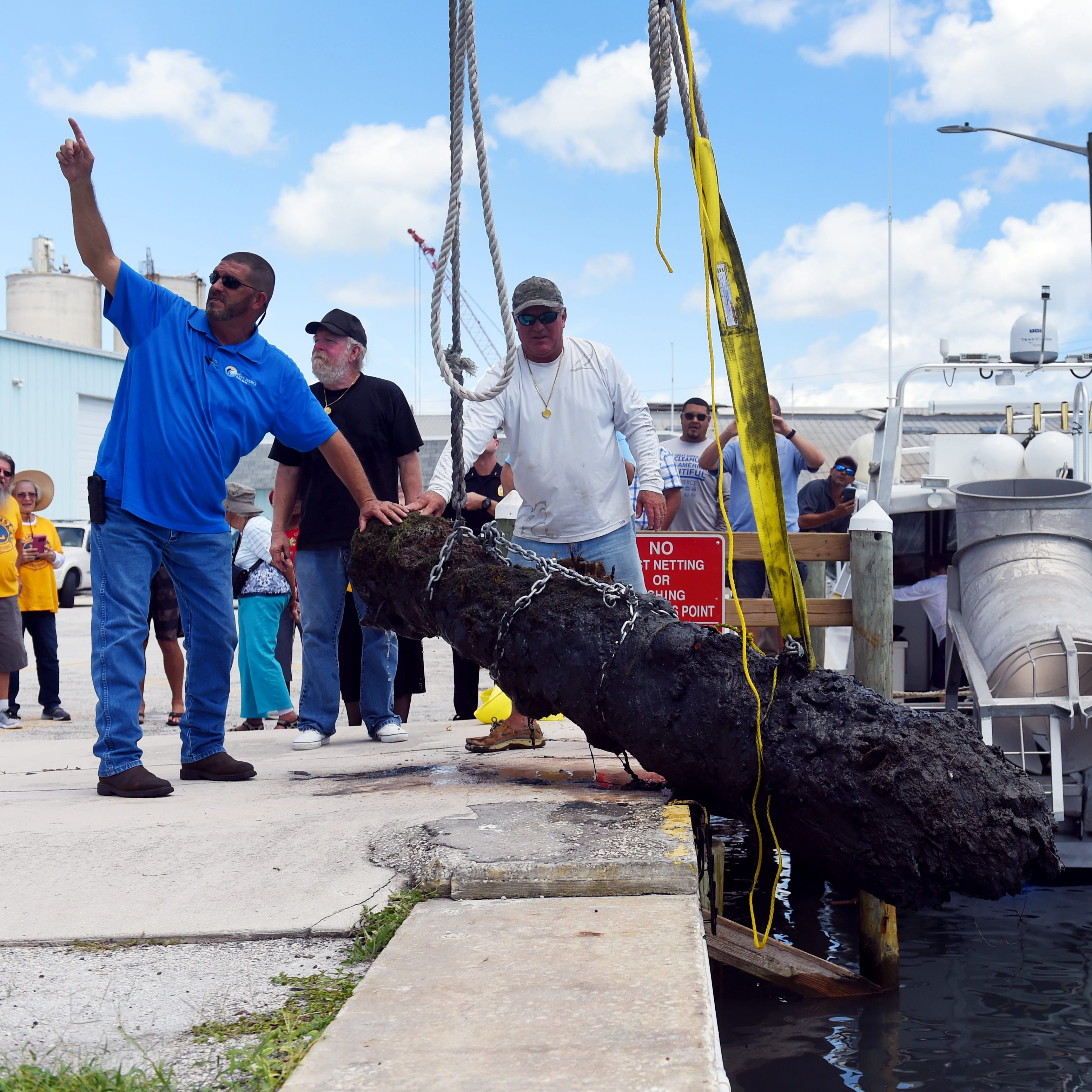 Spanish cannon from 1715 Fleet recovered off Fort Pierce coast