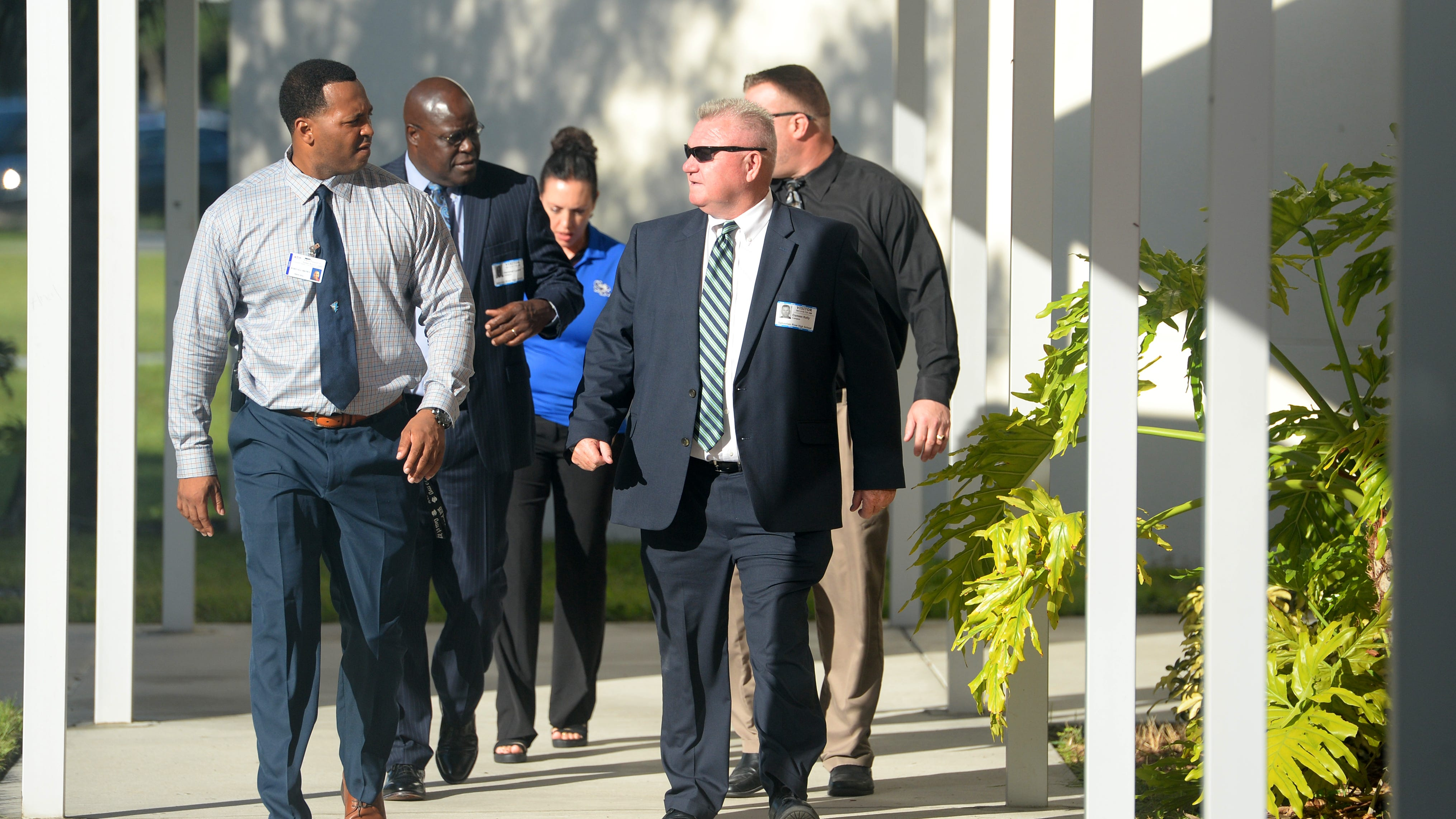 Florida's school security chief visits Sebastian River High School on the first day of class