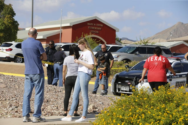 A mother was killed at Tippin Elementary in West El Paso on the first day of school after getting between three children and a car. The children were also injured in the accident.