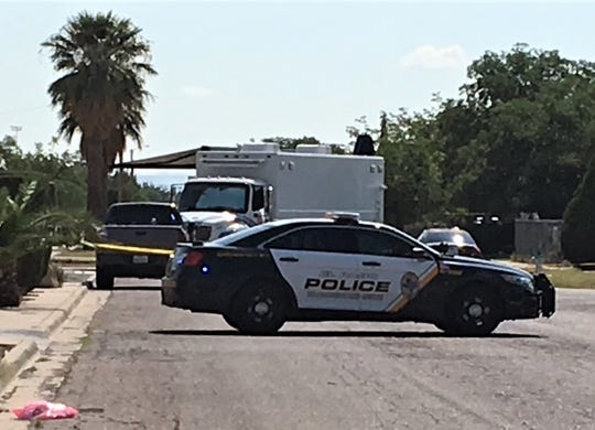 The El Paso police bomb squad checked an abandoned backpack Monday morning on Guadalupe Drive in Northeast El Paso.