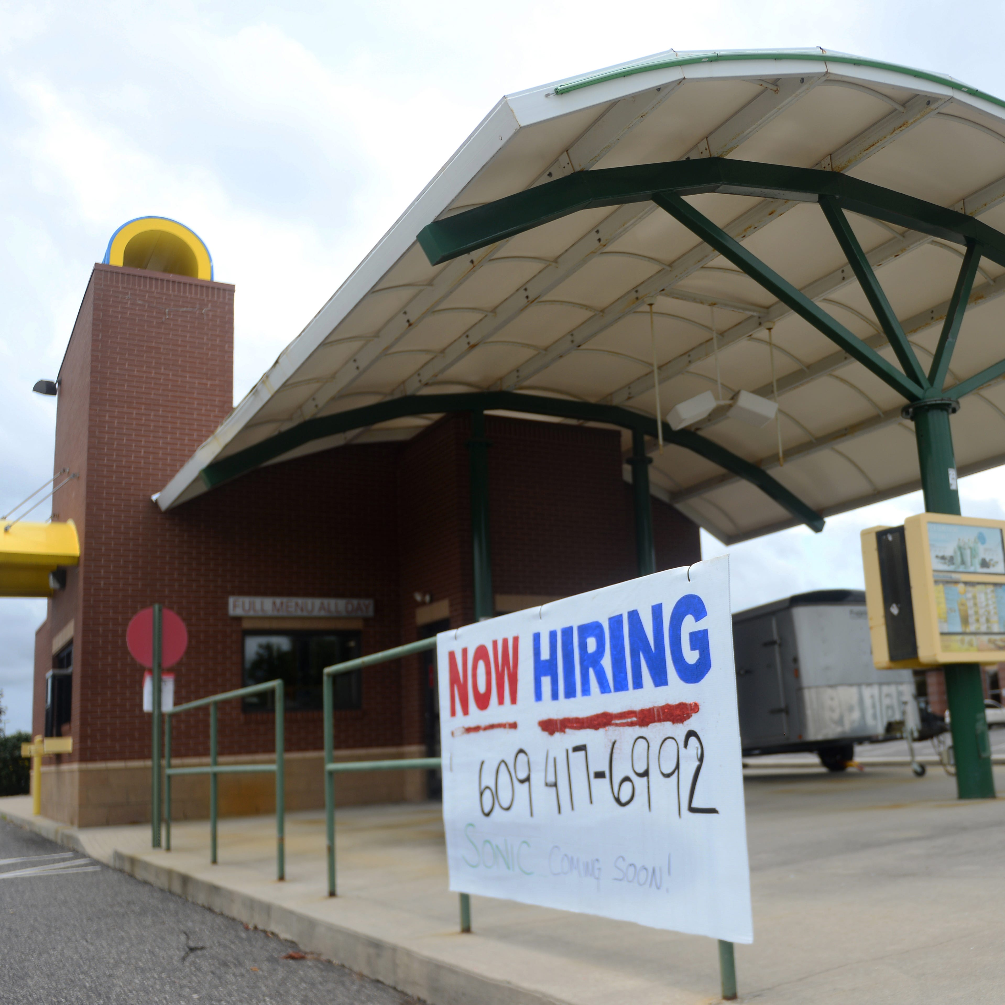 A closed Sonic Drive-In fast-food restaurant on Delsea Drive in Millville pictured here on Monday, August 13.