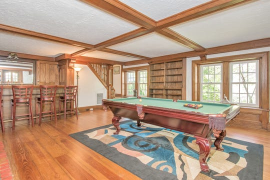 The game room in a Westchester home at 46 Bretton Road in Edgemont that was reportedly owned by mobster Bugsy Siegel during the 1920s.