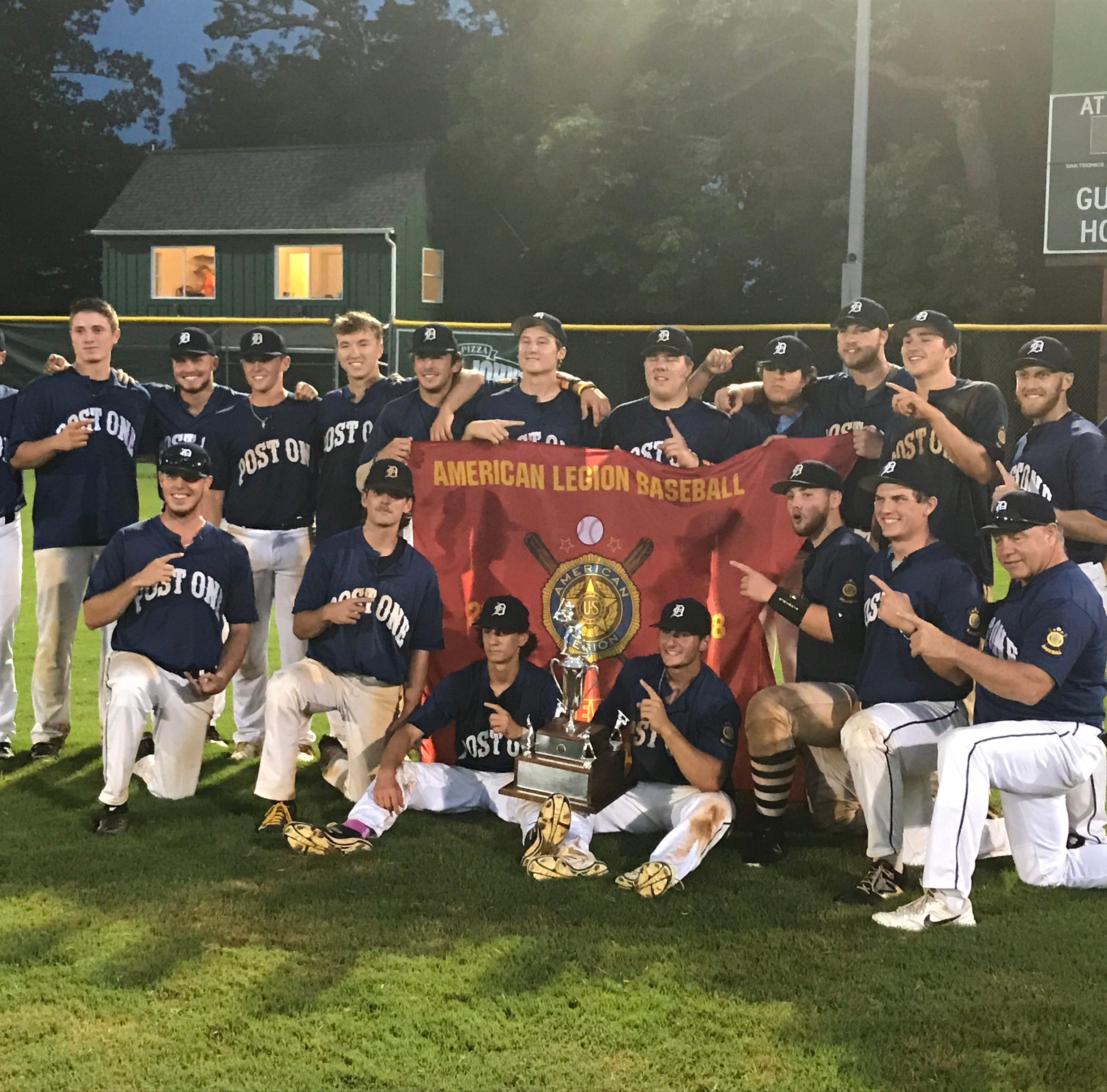 Delaware champs win Mid-Atlantic title, reach American Legion World Series