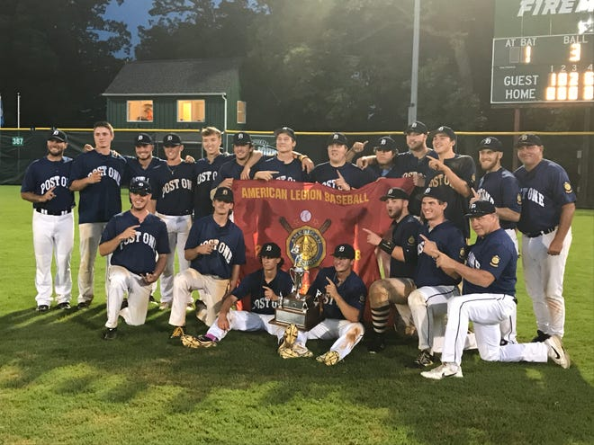 Delaware champ Post One celebrates its Mid-Atlantic title Sunday.