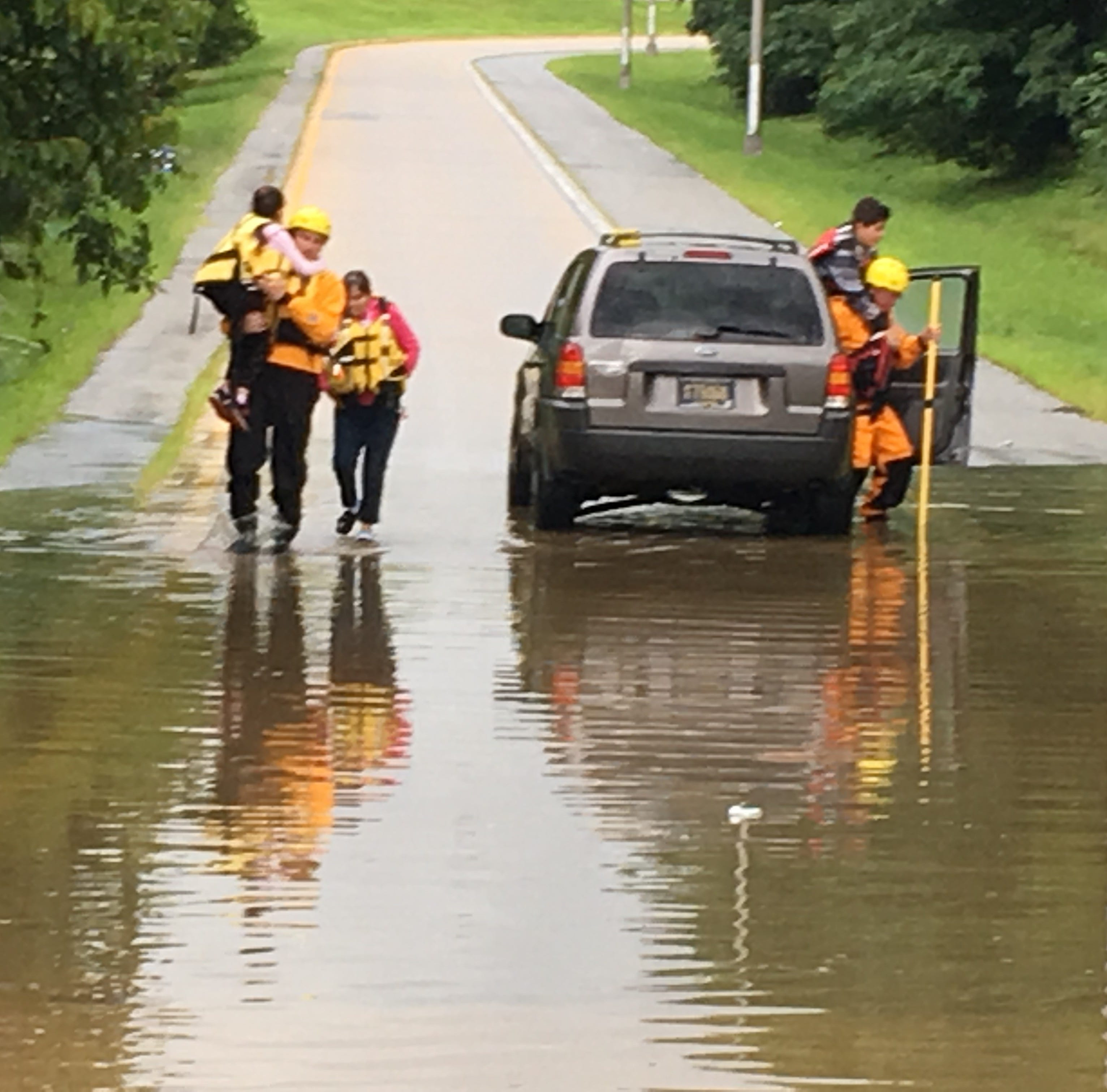 Roadways suffer high water after morning deluge