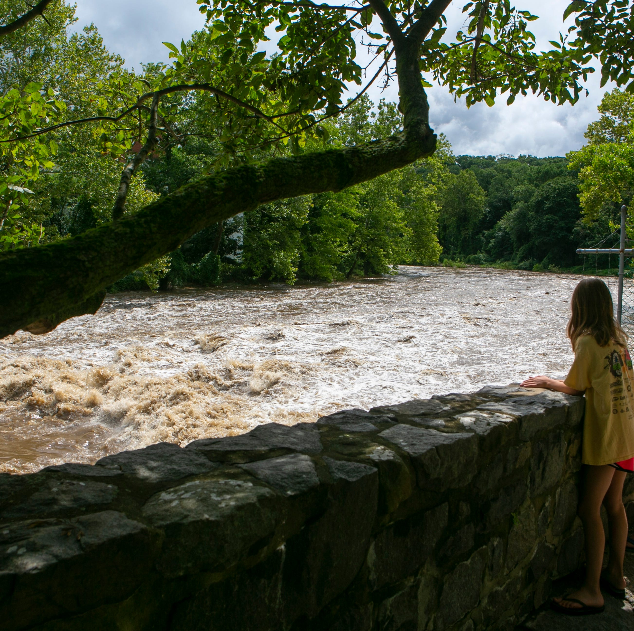 Flooded roads, swollen rivers from morning storms