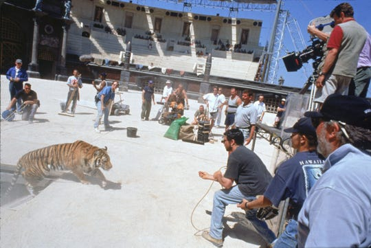 Filming a a scene from the film Gladiator --- DATE TAKEN: 1999  By Jaap Buitendijk   Dreamworks , Source: Dreamworks       HO      - handout ORG XMIT: UT97386
