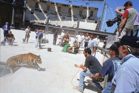 Filming a a scene from the film Gladiator --- DATE TAKEN: 1999  By Jaap Buitendijk   Dreamworks , Source: Dreamworks       HO      - handout ORG XMIT: UT97386