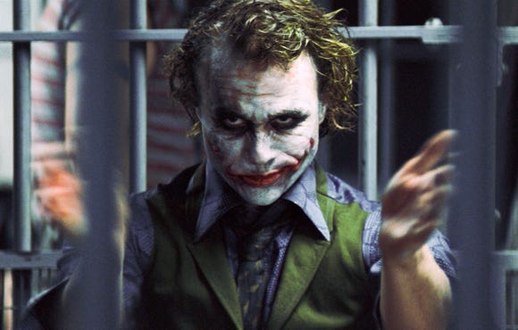 "Heath Ledger won an Oscar for playing the Joker in ""The Dark Knight."""