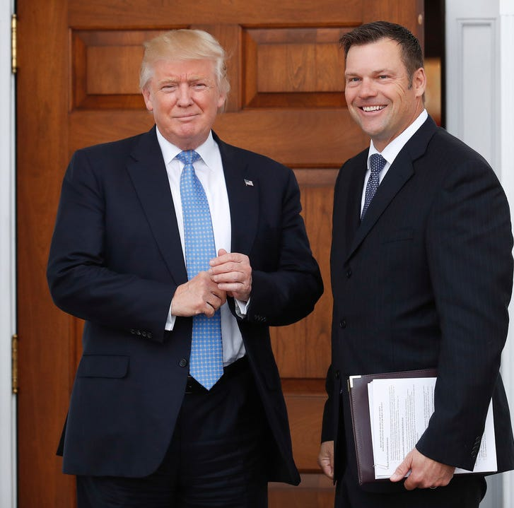 Republicans have a Kobach problem and, like Trump, it's not going away soon.