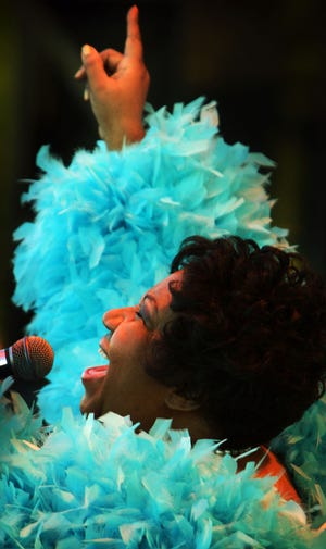 Aretha Franklin, performing in her hometown of Memphis in 2008.
