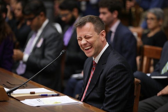 Deputy Assistant FBI Director Peter Strzok attempts to recall information about his polygraph tests while testifying before a joint committee hearing of the House Judiciary and Oversight and Government Reform committees in the Rayburn House Office Building on Capitol Hill July 12, 2018 in Washington.