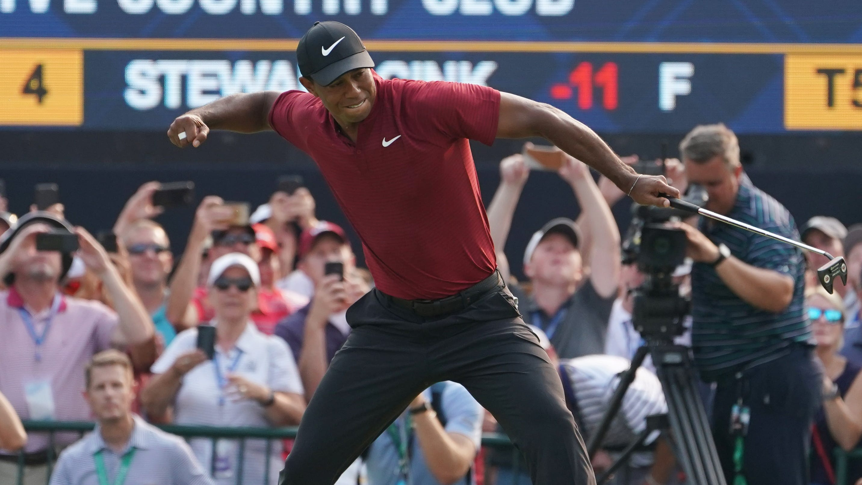 Tiger Woods had his best finish at a major in nine years.