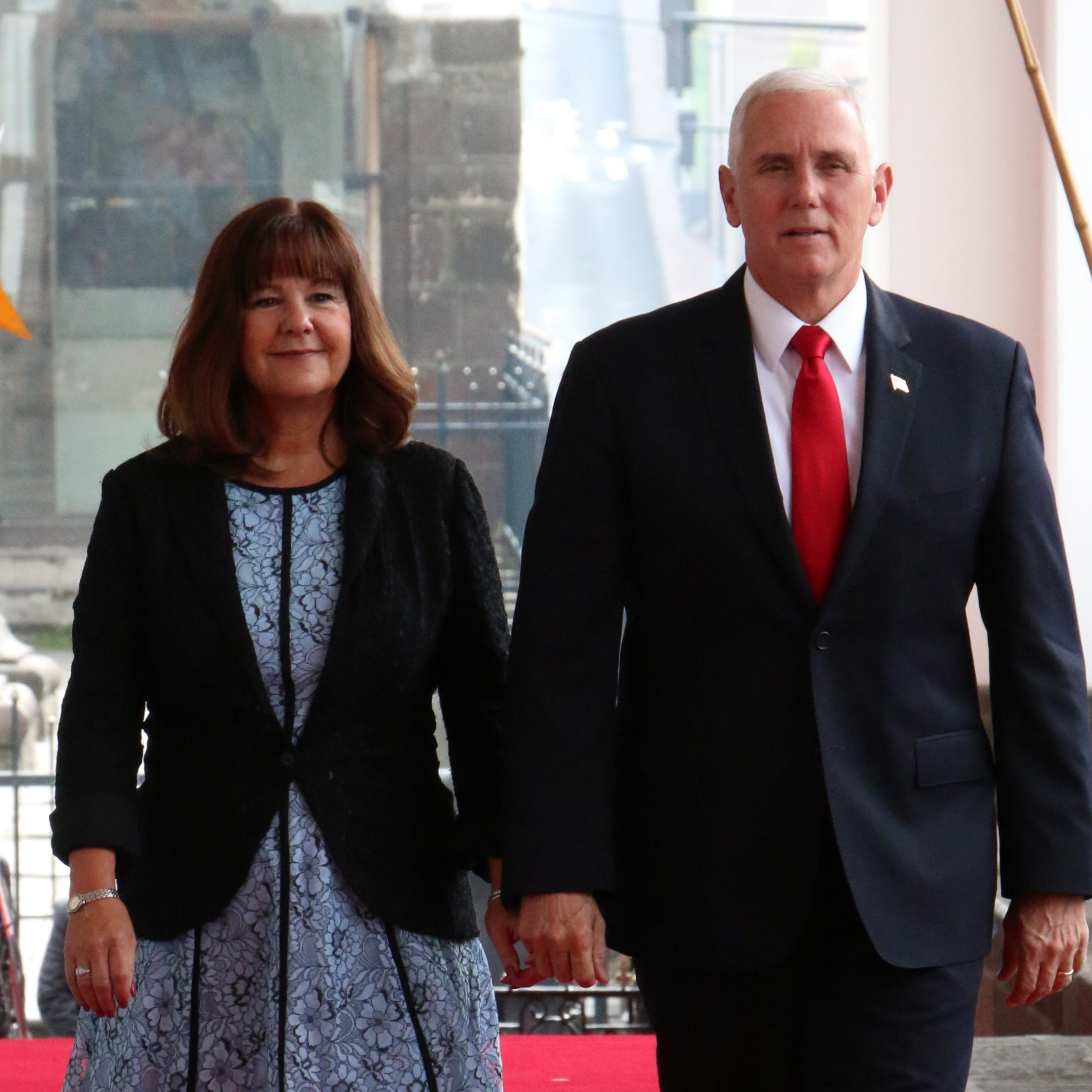 Vice President Mike Pence and wife Karen at the Carondelet Palace in Quito, Ecuador on June, 28 2018.
