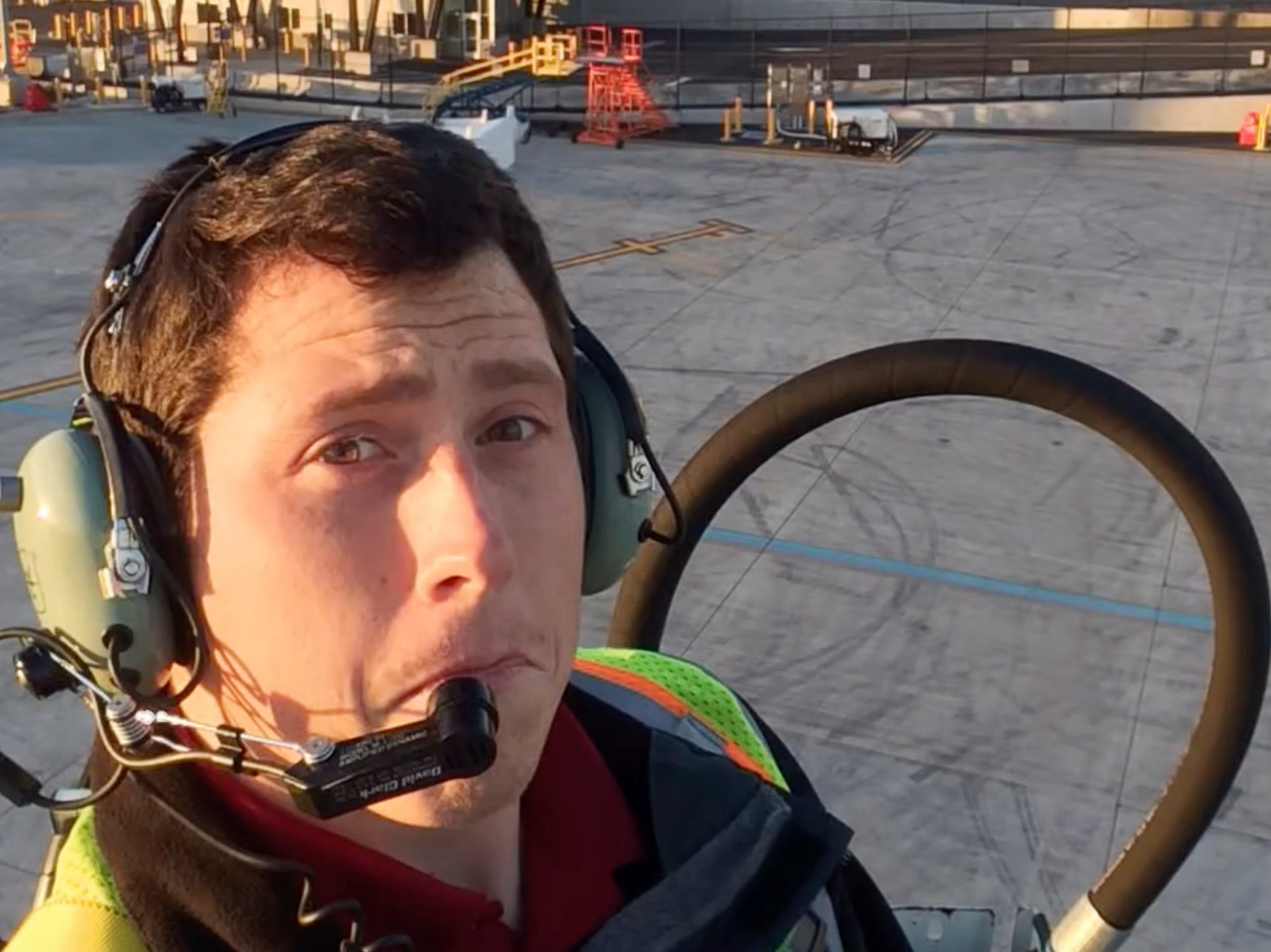 This undated image posted to Richard Russell's YouTube channel shows Russell, an airline ground agent. Investigators are piecing together how Russell stole an empty commercial airplane, took off from Sea-Tac International Airport in Seattle, and crashed into a small island in the Puget Sound in Washington.