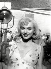 "Marilyn Monroe appears on the set of the movie ""The Misfits,"" in August 1960 in Dayton, Nev."
