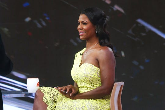 """Omarosa Manigualt Newman on the """"Today Show"""" on Aug. 13, 2018 in New York City."""