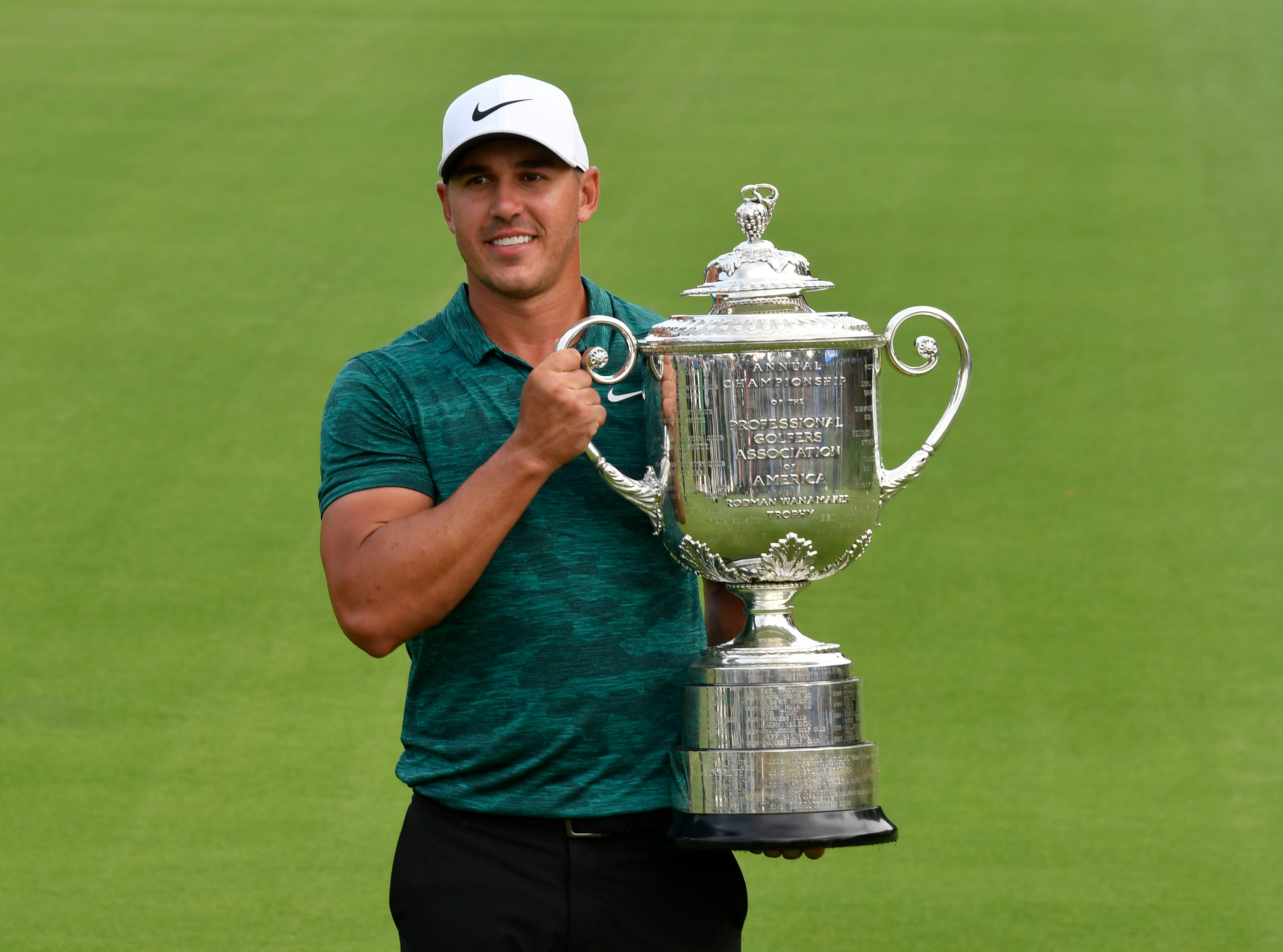pga championship  brooks koepka holds off tiger woods to win