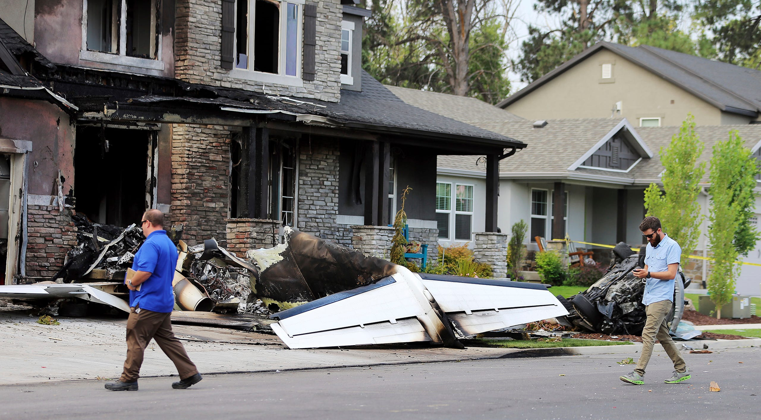 Utah man crashes plane into his own home Small Plane Crashes Into Home on plane crash into home, chicago plane crashes into home, private plane crashes into home, miami car crashes into home, colorado plane crashes into home, small plane going down,