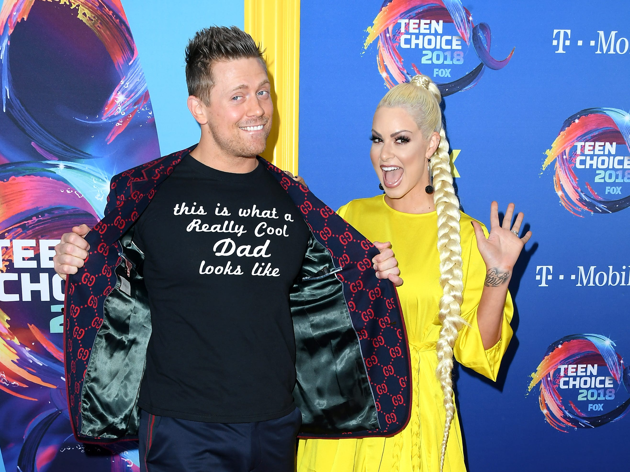 INGLEWOOD, CA - AUGUST 12: Mike 'The Miz' Mizanin and Maryse Mizanin attend  FOX's Teen Choice Awards at The Forum on August 12, 2018 in Inglewood, California.  (Photo by Steve Granitz/WireImage) ORG XMIT: 775199266 ORIG FILE ID: 1015794644