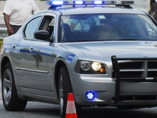The state Highway Patrol is investigating a hit-and-run after an elderly man who was struck by a vehicle after visiting his wife in a hospital died.