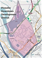 The newly reformed Pineville Downtown Development District.