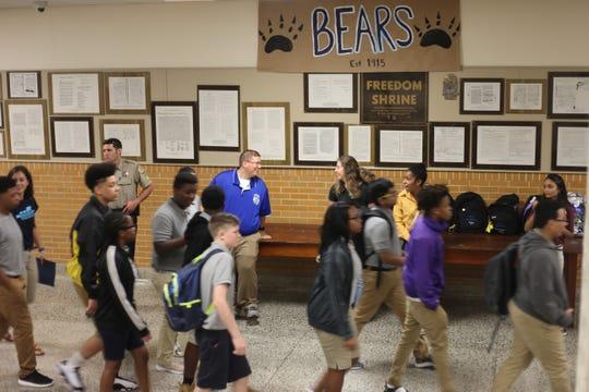 Bolton High School welcomed freshman Tuesday.