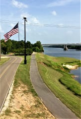The riverfront area will be a focal point as Pineville looks to develop its downtown.